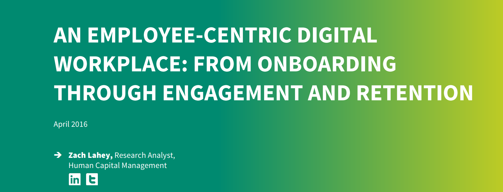 An Employee Centric Digital Workplace