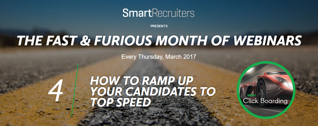 How to ramp up your candidates to top speed webinar on demand